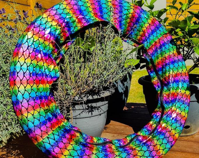 Hula Hoop Bag With Zip - Rainbow Mermaid