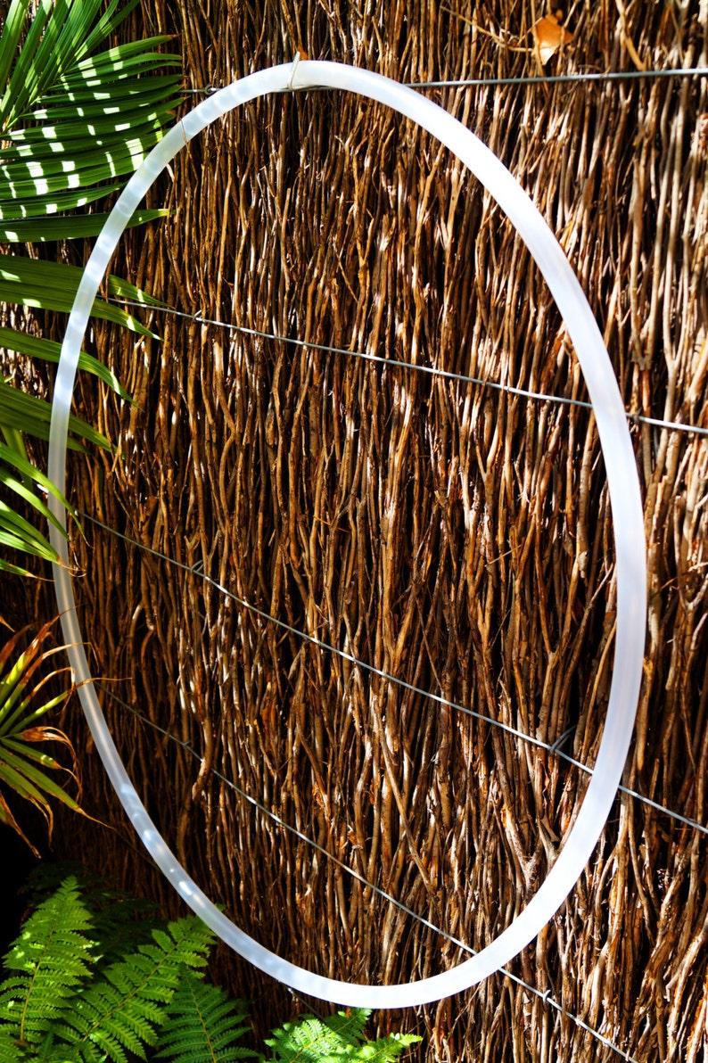Clear Natural Polypro Hula Hoop