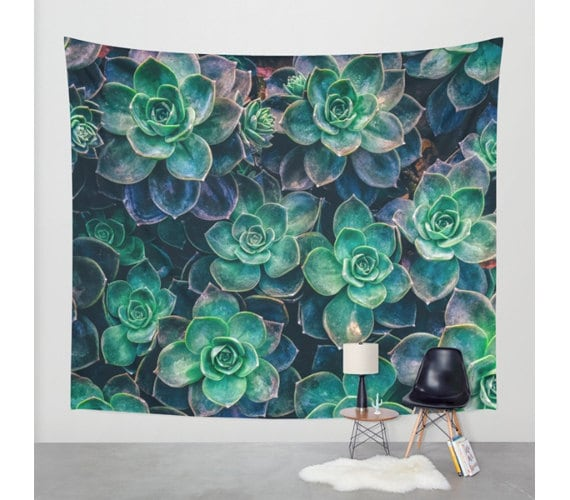 Wall Tapestry Succulent Hanging