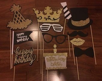 Birthday Photo Booth Props