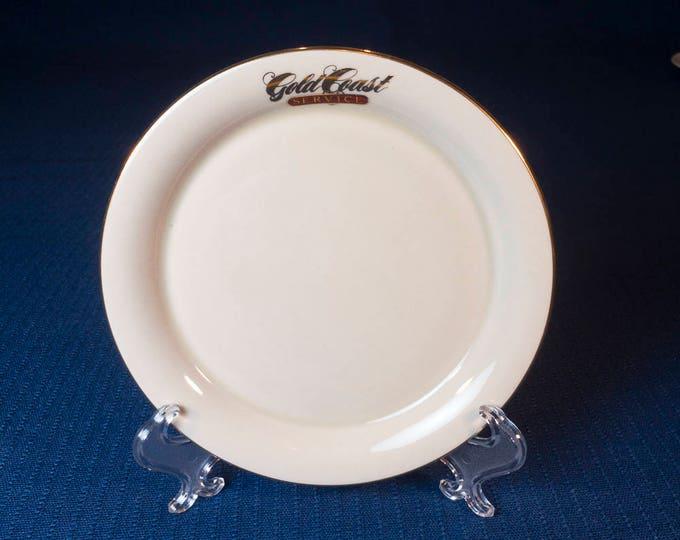 "Alaska Airlines Gold Coast Service 5 1/2"" Diameter Bread Plate FS-316 Circa 1980s"