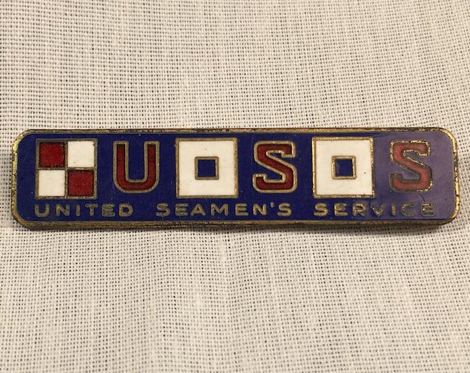 United Seaman's Service Sterling Pin WW II Era 1940s