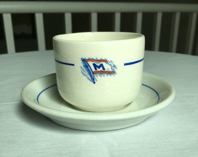 Masterbulk Shipping Lines Norway Nautical Maritime Ship China Cup Saucer Emblem Logo Cup Saucer