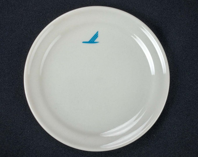 Vintage 1980s Piedmont Airlines Small Plate 5 Inch First Class Blue Bird Pattern Mayer China