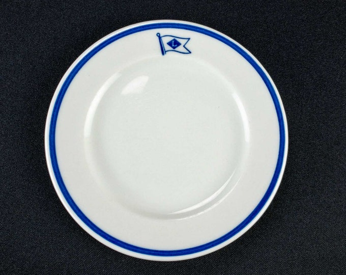 Lykes Brothers Steamship Company Lykes Lines Restaurant Ware Bread Plate By Shenango China Circa 1920s-early 1950s