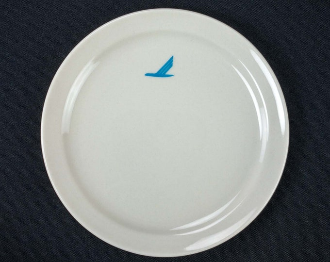 "Vintage 1980s Piedmont Airlines Snack Bread Side 6"" Plate Mayer China Bluebird Pattern First Class Service Restaurant Ware"