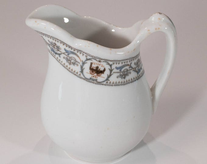 New York Central Lines Railroad Train Small Cream Pitcher Dewitt Clinton Pattern