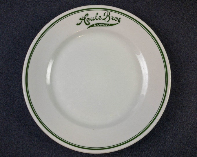 """Antique Houle Bros Lunch 8-3/8"""" Plate Restaurant Ware By Mayer China"""