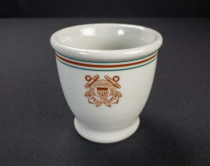 HTF Vintage 1945 United States Coast Guard Custard Cup by Jackson China