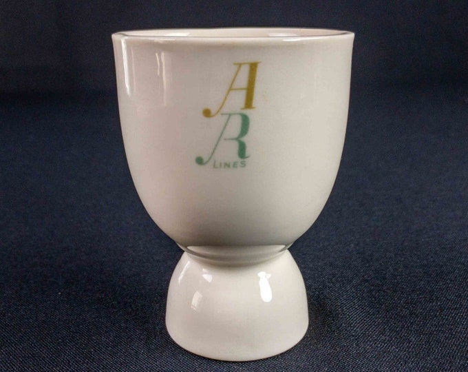 HTF American Republics Lines Steamship Restaurant Ware Brazil Pattern Double Egg Cup
