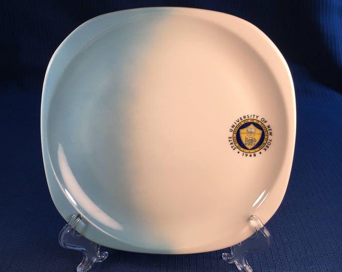 "State University of New York Syracuse China Airbrush 8-1/2"" Breakfast Plates 92-L 1963"