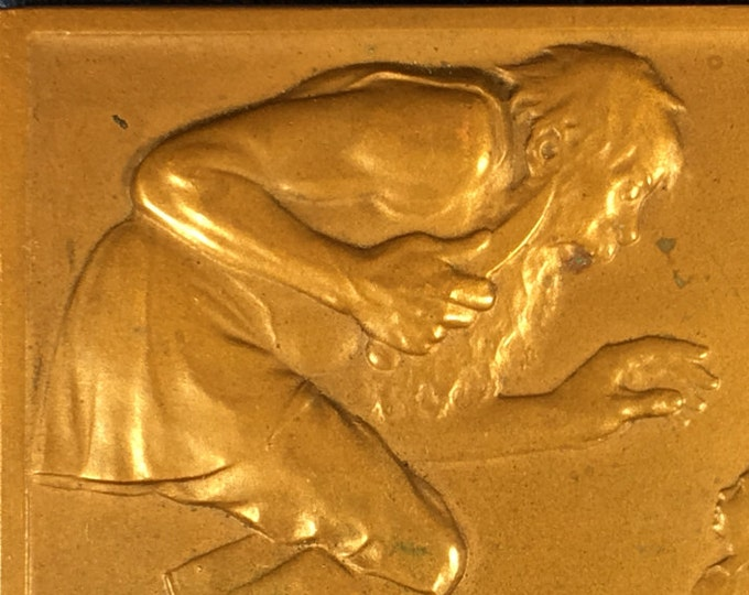 Early 1900s Small Bronze Table Metal Tom Thumb Der Kleine Daumling by Karl Perl Austrian Artist