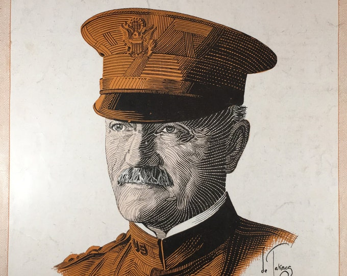 Hello Gen'ral Pershing WWI 1918 Sheet Music By Lew Porter Captivating Graphic