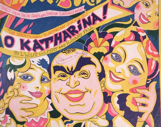 O Katharina! by L Wolfe Gilbert and Richard Fall 1924