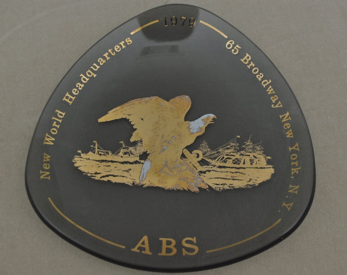 American Bureau Of Shipping Commerative Ashtray 1979 New World Headquarters 65 Broadway New York
