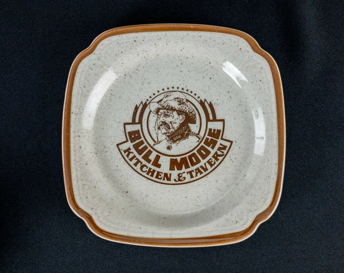 "1970s Bull Moose Kitchen & Tavern San Antonio Texas Restaurant Ware 7 3/8"" Side Salad Plate By Syracuse China"