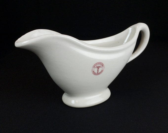US Army Medical Department Restaurant Ware Gravy Boat by TEPCO Circa Early 1940s WWII Era