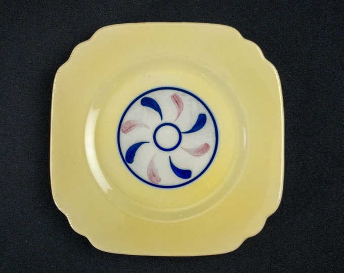 """1945 Square Salad Plate 8 1/4"""" Restaurant Ware Plate By OPCo Syracuse"""