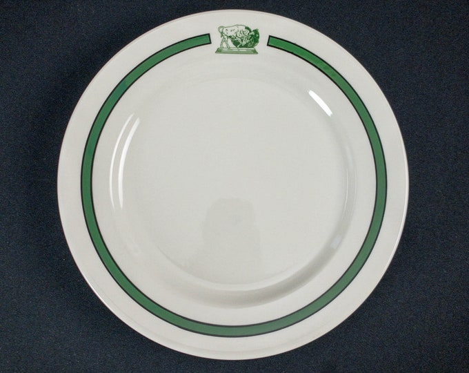 "1990s New York Stock Exchange Luncheon Club 9-3/4"" Plate Restaurant Ware By Homer Laughlin"