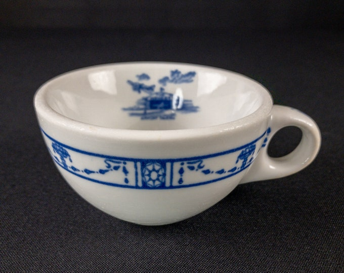 The Hangar Airport Tavern Georgian Pattern Coffee Cup Restaurant Ware By Iroquois China 1930s