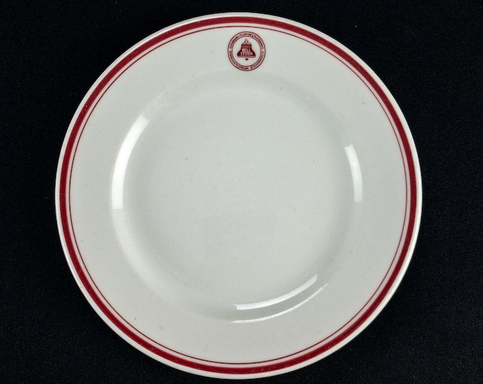 """1931-1960s Southern Bell AT&T Bell System Restaurant Ware 7 3/8"""" Bread Side Plate by McNicol China Clarksburg WV"""