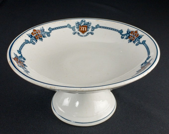 "Rare 1913-1938 W C Munn Company Department Store Houston Texas 8"" Restaurant Ware Compote Comport"