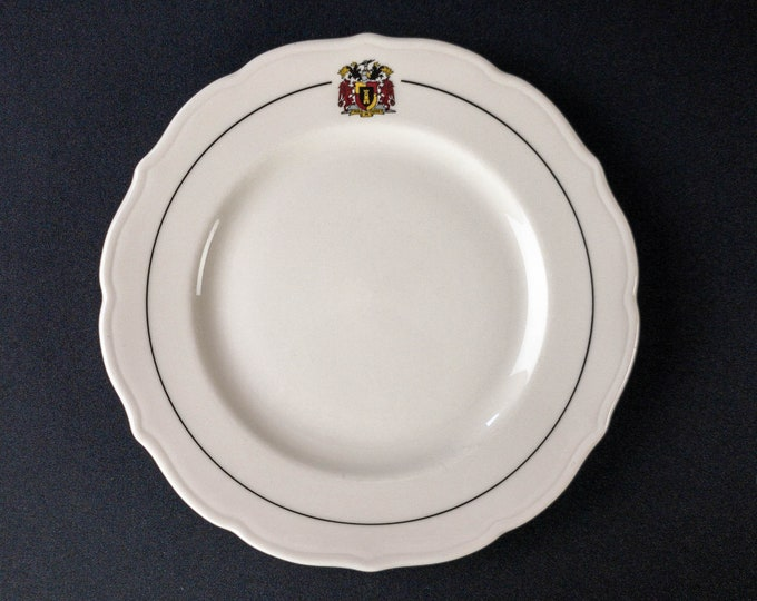 """Rice University Sid Richardson College Houston 9-1/2"""" Dinner Plate Cafeteria Restaurant Ware By Syracuse China Circa 1989"""