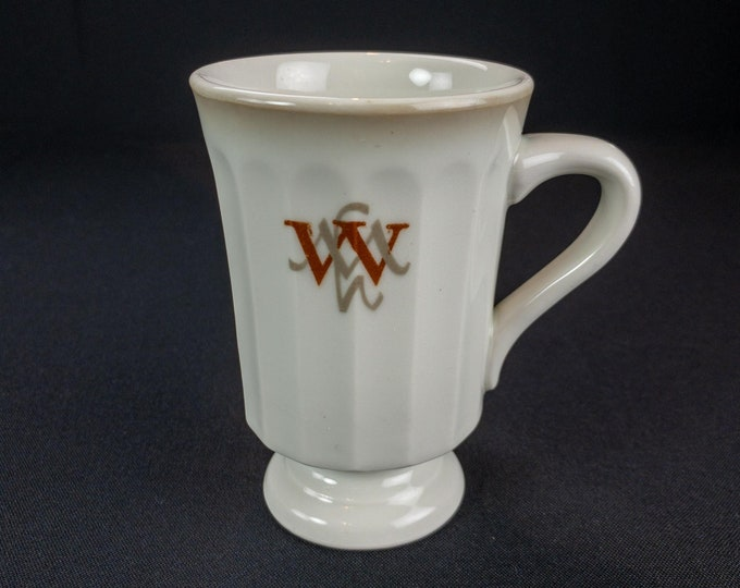 Vintage 1960s Mayer China Williamsburg Motor House Virginia Restaurant Ware Footed Coffee Mug