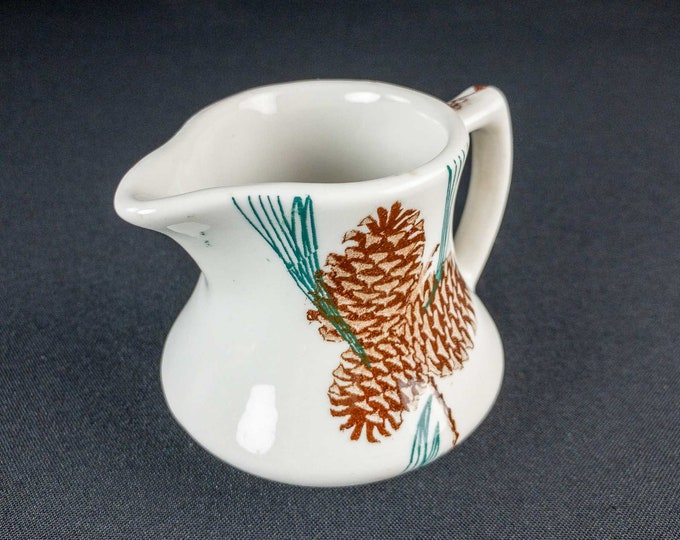 Vintage 1940 to 1960 TEPCO Needles and Pine Pattern Restaurant Ware Creamer