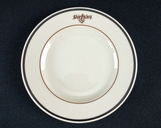 "1955 Ship Ahoy Restaurant Ware 7"" Side Plate Mayer China"