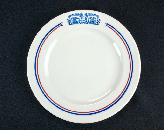 "Vintage 1970s Syracuse China Restaurant Antoine New Orleans Commercial Ware 8 1/8"" Side Plate"