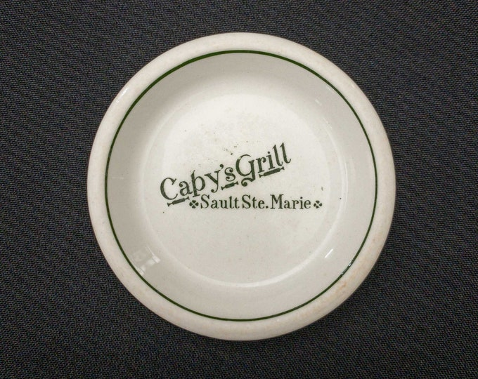 1930s Capy's Grill Sault Ste. Marie Ontario Canada Restaurant Ware Butter Pat By John Maddock England