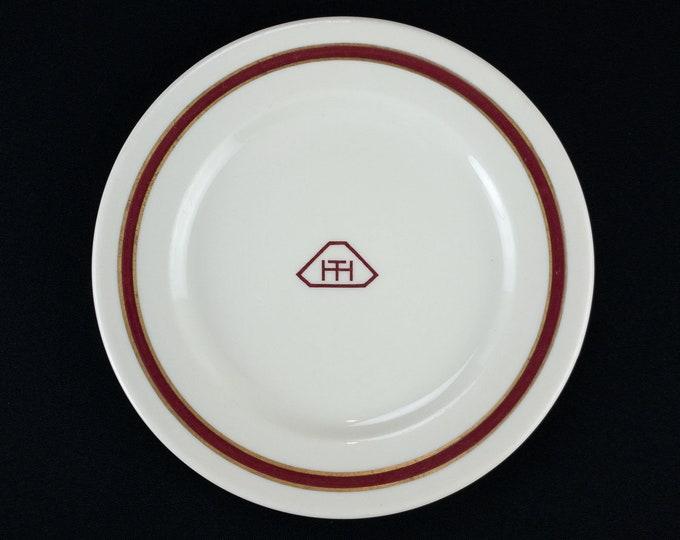 Hughes Tool Company Houston Texas Restaurant Ware Salad Plate Executive Dining Room By Syracuse China Circa 1948 Colors Ivory Maroon Gold