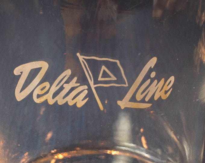 Delta Steamship Line Water Juice Glass 8 oz by Federal Glass Co