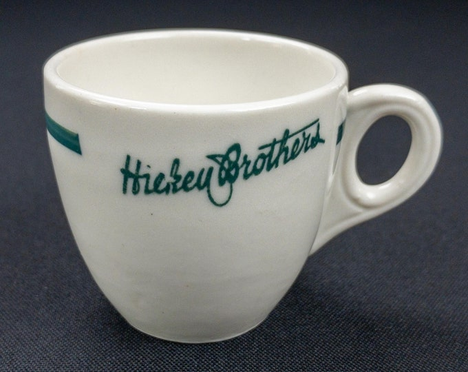 Vintage 1920s-30s Hickey Brothers Foda Fountain Cigar Stores Davenport Iowa Demitasse Cup Scammell Trenton China