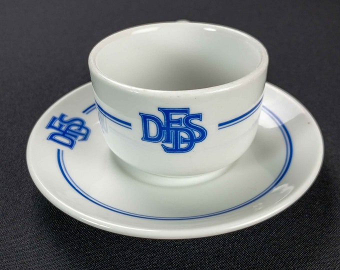 Vintage 1960s DFDS Maritime Nautical Shipping Line Restaurant Ware Cup & Saucer By Royal Copenhagen