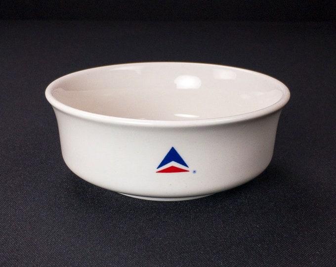 Vintage 1980s Delta Air Lines Bowl Widget Pattern Restaurant Ware Abco
