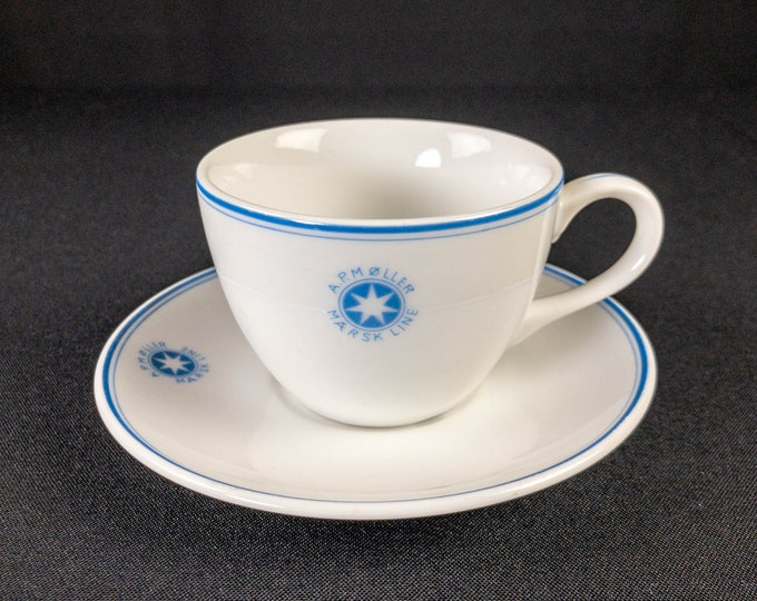 A P Moller Maersk Line Shipping Cup And Saucer Set Restaurant Ware By Mino China