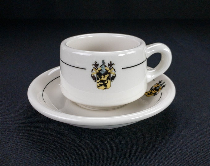 Rice University Harry Carothers Wiess College Houston Texas Coffee Cup And Saucer Restaurant Ware By Syracuse China