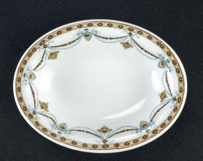 HTF Fraunfelter Princess Pattern Hotel Restaurant Small Oval Baker Bowl Circa About 1925 - Possibly Texas State Hotel China Service