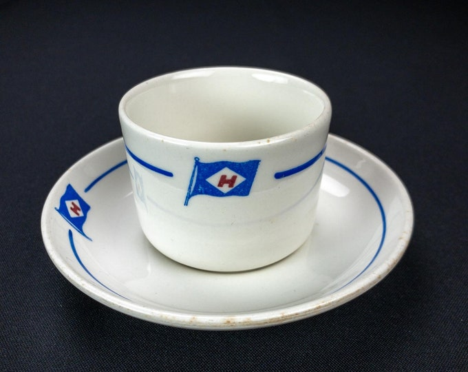Sigurd Herlofson and Co Shipping Steamship Norway Cup and Saucer by Savargerflint Norway 1950s-60s