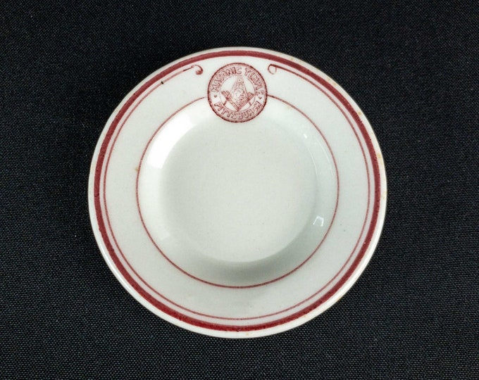 1940s Masonic Temple Pittsburgh Restaurant Ware Butter Pat
