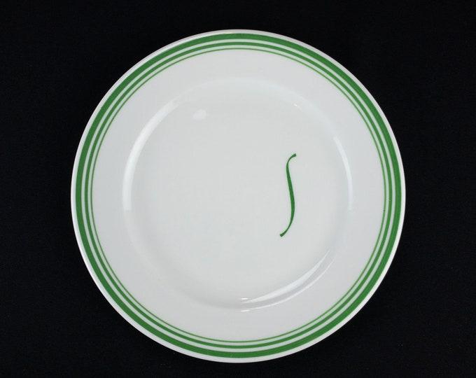 HTF Dinner Plate Shamrock Hotel Houston Texas Pine Grill Room Restaurant Ware by Shenango China Circa 1954