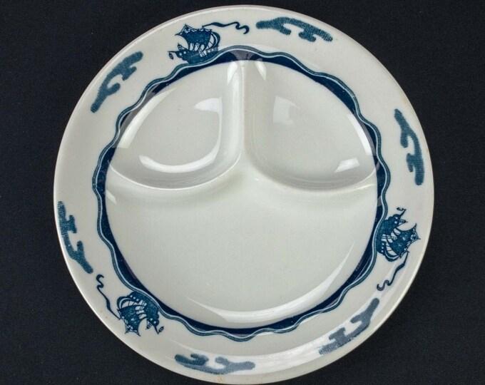 HTF Viking Pattern Divided Grill Plate by Syracuse China Circa 1951