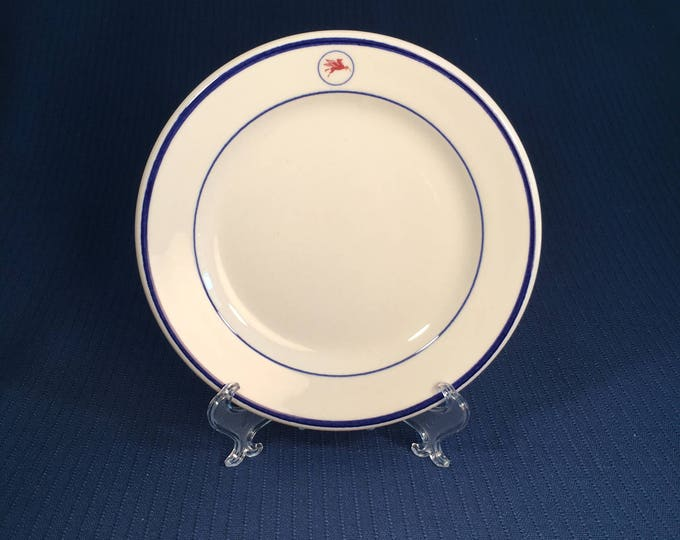 Vintage 1980s Mobil Oil Tanker Ship Restaurant Ware Side Plate Shenango China