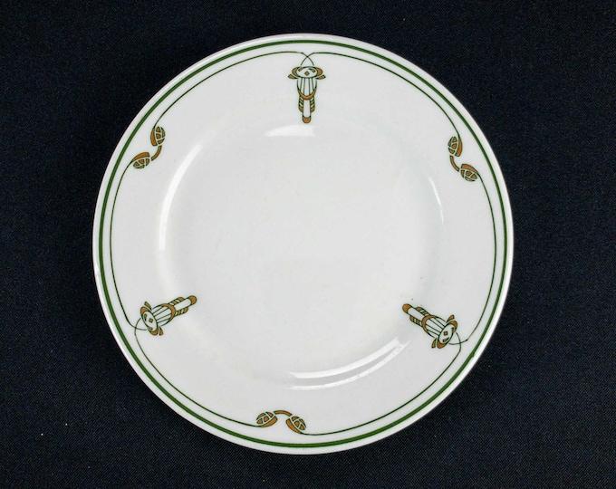 "1950s-60s Katy Ornaments Restaurant Ware Bread Side Plate 6 3/8"" Shenango China"