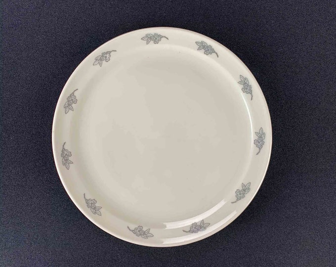 "1970s Delta Air Lines Business Class Dogwood Pattern 7 1/2 "" Restaurant Ware Plate By Mayer China"