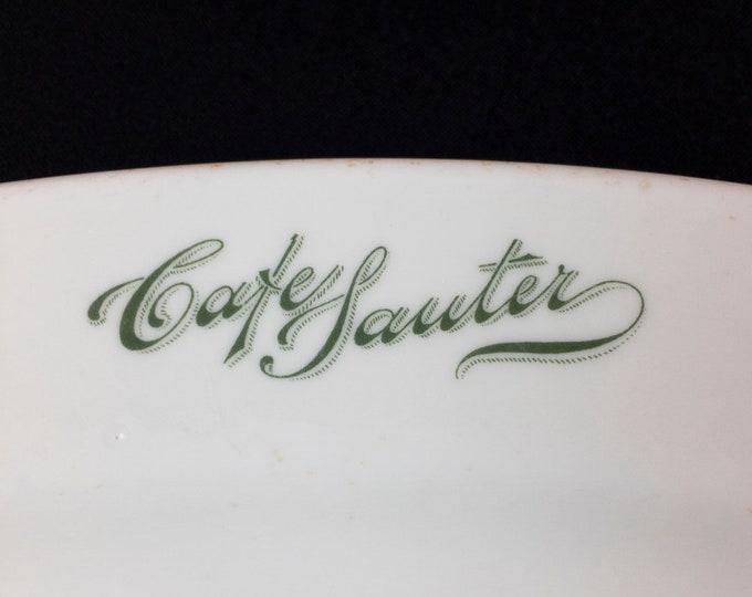 "Cafe Sauter Houston Texas Rare and Antique 13 1/2"" Restaurant Ware Platter by Burley & Co. Chicago Circa 1897-1914"