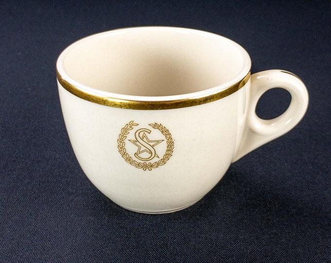 1951 Shamrock Hotel Houston Texas Restaurant Ware Coffee Tea Cup By Shenango China