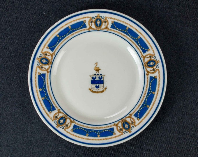 """Vintage 1931-1954 Rochester Hotel New York Restaurant Ware 7"""" Bread Plate Scammell's Lamberton China"""